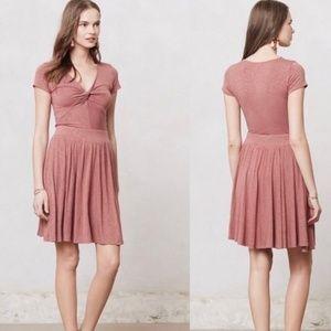 Dolan Tay Rose V Neck T-Shirt Dress